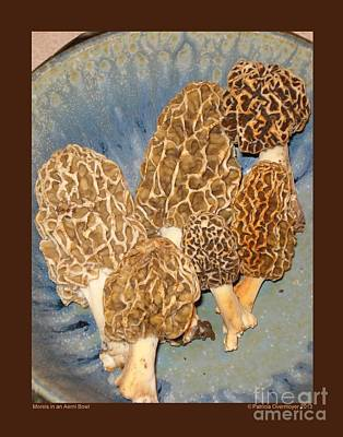 Morels In An Aerni Bowl Poster by Patricia Overmoyer