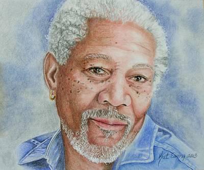 Morgan Freeman Poster by Kat Ewing