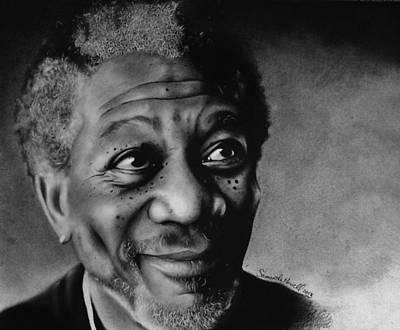 Morgan Freeman Poster by Samantha Howell