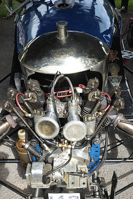 Morgan V Twin Engine Detail Poster