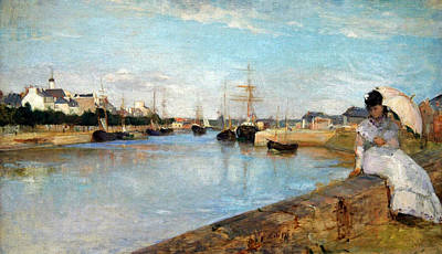 Morisot's The Harbor At Lorient Poster by Cora Wandel