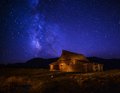 Mormon Barn And Milky Way Poster by Vishwanath Bhat
