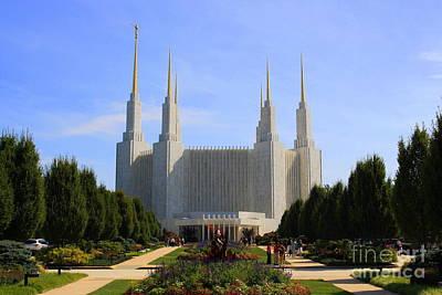 Mormon Temple Dc Poster by Patti Whitten