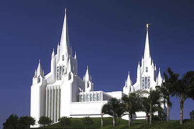 Mormon Temple Poster by Paul W Faust -  Impressions of Light