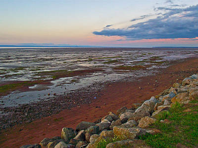 Morning At Minas Basin In Fundy Bay Near Grand Pre-ns Poster by Ruth Hager
