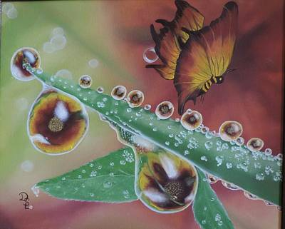 Poster featuring the painting Morning Dew by Dianna Lewis