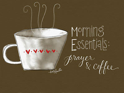 Morning Essentials Poster by Katie Doucette