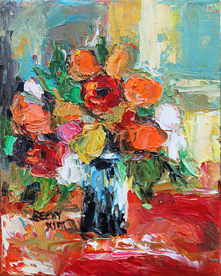 Morning Flowers Poster