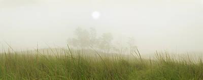 Morning Fog On The Dunes Poster