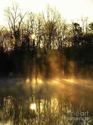 Morning Fog Rising Poster