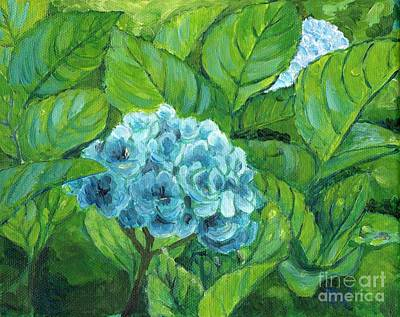 Poster featuring the painting Morning Hydrangea by Jingfen Hwu