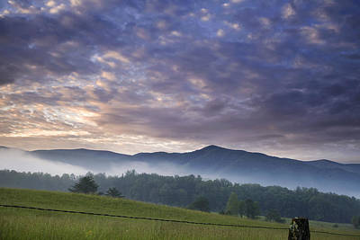 Morning In Cades Cove Poster by Andrew Soundarajan
