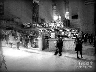 Morning In Grand Central Poster by Miriam Danar