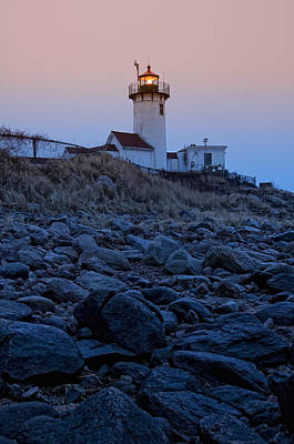 Morning Light - Eastern Point Lighthouse Poster by Joann Vitali