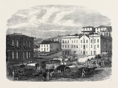 Morning Market At Port Elizabeth 1866 Poster by English School