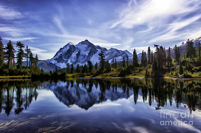 Morning On Mt Shuksan  Poster by Frank Pali