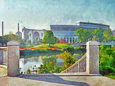 The Horseshoe By Morning Light. The Ohio State University Poster
