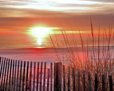 Morning Sandfire Poster