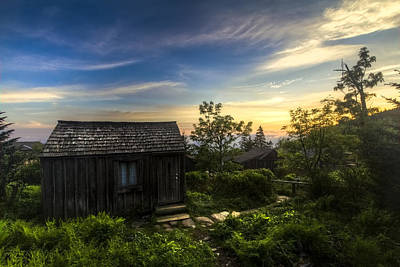 Morning Sky Over Mt. Leconte Poster by Debra and Dave Vanderlaan