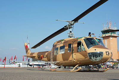 Moroccan Air Force Ab205a-1 Helicopter Poster by Daniele Faccioli