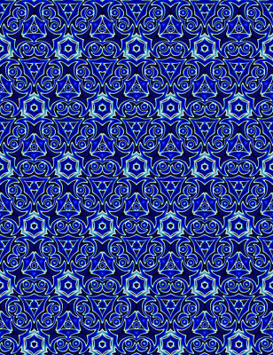Moroccan Textile Pattern 2 Poster
