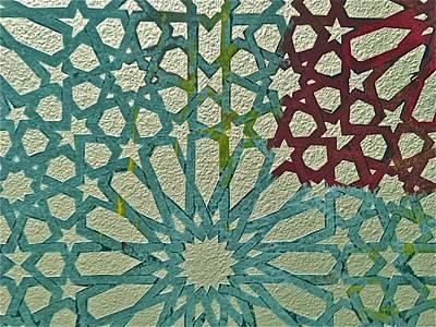 Moroccan Tile Design Poster by Karim Baziou