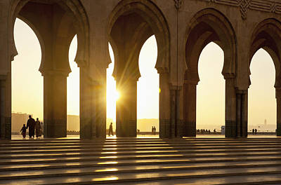 Morocco, Archways Of Hassan II Mosque Poster by Ian Cumming