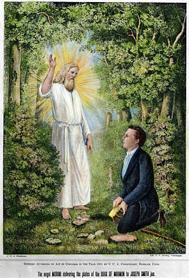 Moroni And Joseph Smith Poster by Granger