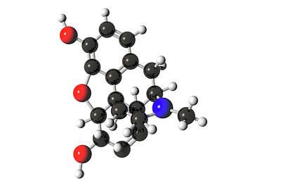 Morphine Molecule Poster by Carol & Mike Werner