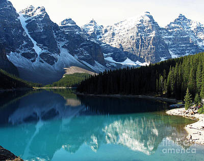 Poster featuring the photograph Moraine Lake by Gerry Bates