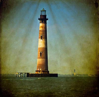 Morris Island Light Color Vintage Poster