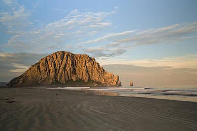 Morro Rock At Dawn Poster