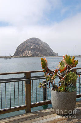 Poster featuring the photograph Morro Rock At Morro Bay by Debra Thompson