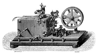 Morse Telegraph Receiver Poster by Science Photo Library