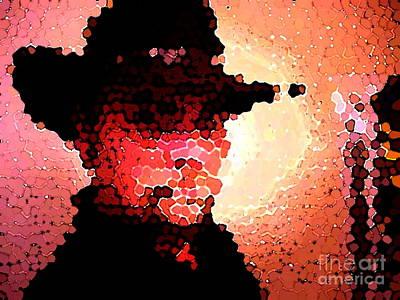 Mosaic Cowboy Poster