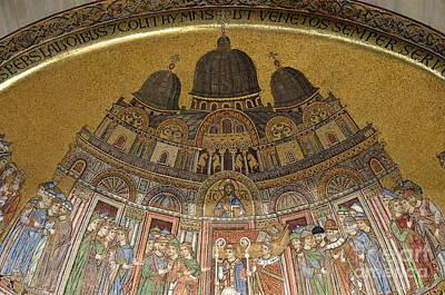 Mosaic Detail On San Marco Basilica Poster by Sami Sarkis