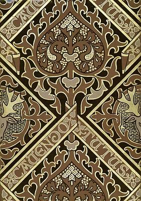 Mosaic Ecclesiastical Wallpaper Design Poster by Augustus Welby Pugin