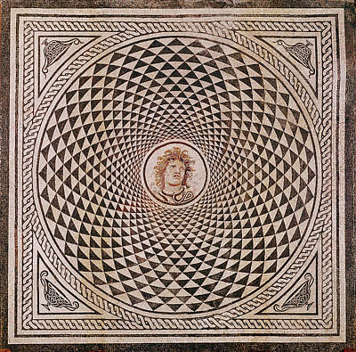 Mosaic Floor With  Head Of Medusa Unknown Rome Poster