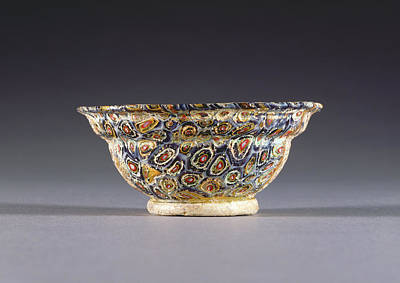 Mosaic Glass Bowl Unknown 1st Century B.c. - 1st Century Poster by Litz Collection