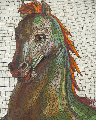 Mosaic Horse Poster by Marcia Socolik