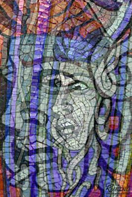 Mosaic Medusa Poster by Tony Rubino