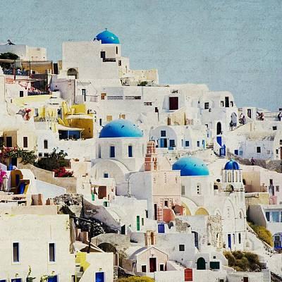 Mosaic - Santorini Poster by Lisa Parrish