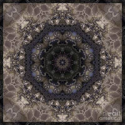 Mosaic Tile / Gray Tones Poster