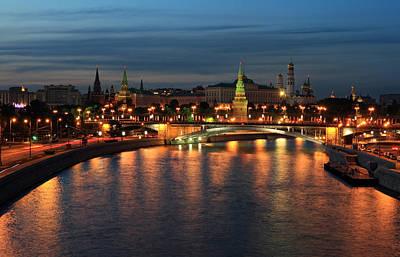 Moscow Kremlin At Night Poster by Alex Sukonkin