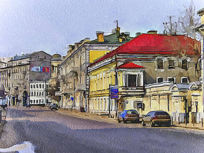 Moscow Old Streets 6 Poster by Yury Malkov