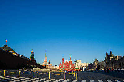 Moscow Red Square From South-east To North-west Poster by Alexander Senin