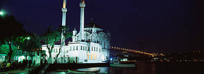 Mosque At The Waterfront Near A Bridge Poster by Panoramic Images