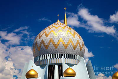 Mosque In Borneo Poster by Fototrav Print