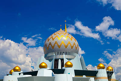 Mosque In Borneo Malaysia Poster by Fototrav Print