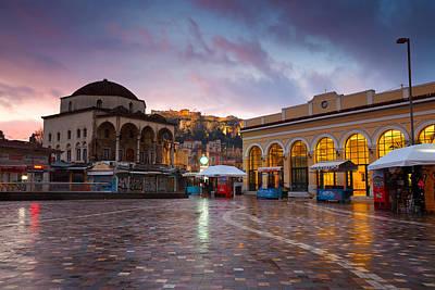 Mosque In Monastiraki Square Poster